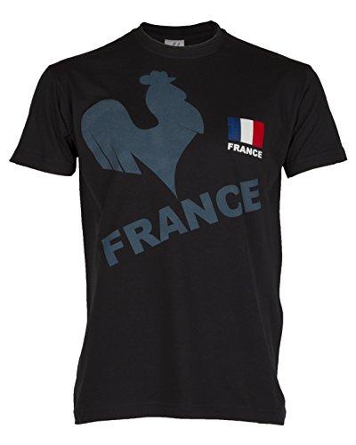 Frankreich-T-Shirt, Erwachsenengröße, für Herren XX-Large marineblau