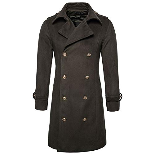 Mantel Mit Knopf Herren Verdicken Wintermantel TWBB Solide Männer Mens Slim Fit Stricken Pullover Mode Cardigan Lange Trenchcoat Jacke