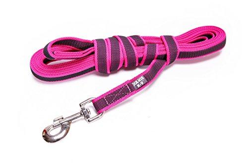 Artikelbild: Julius K9 216GM-PN-S5, Color & Gray gumierte Leine, pink-grau, 20 mm x 5 m mit Schlaufe, max für 50 kg Hunde