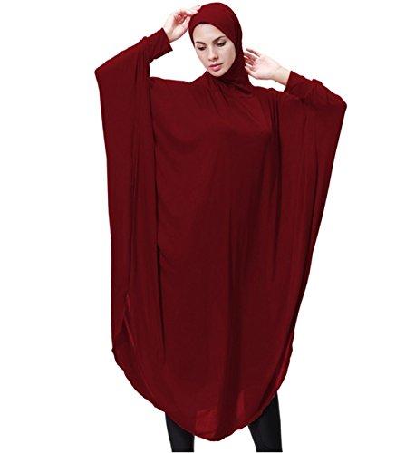 2c15b80bb85111 Dreamskull Damen Frauen Hijab Muslime Abaya Dubai Kleider Muslimische  Islamische Kleidung Arab Arabisch Indien Türkisch Casual