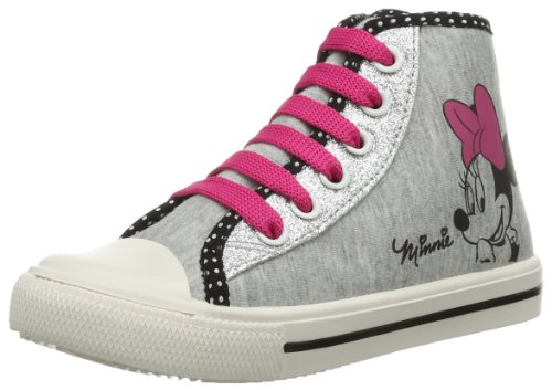 Disney Minnie Girls Kids High Sneakers, Sneaker bambine, Multicolore (Mehrfarbig (L.GREY/SILVER/BLACK 236)), 32