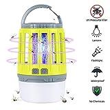 Linkax Lampe Anti Moustique,2-en-1Insecte Zapper,Camping Lantern,Lanterne Camping,Lampe USB Killer Moustique Rechargeable pour Le Camping intérieur et extérieur, Urgences (Jaune)