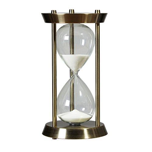 en Golden Glas Sanduhr Sand Uhr Timer Dekoration für Wohnzimmer Kinderzimmer - M 30 Minuten ()