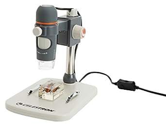 Celestron HDM Pro Microscope numérique portable avec capteur 5 mégapixel et grossissement 20x à 200x Livré avec câble USB 1,2 m