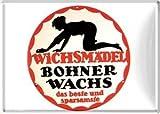 Nostalgic-Art - SMILE Wichsmädel Bohnerwachs - Blechpostkarte - 10x14cm