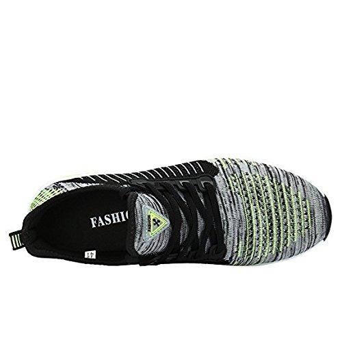 FLARUT Scarpe Sportive Estive Corsa in Montagna Scarpe Asfalto e Gli Sport All'aria Aperta e Scarpe da Corsa per Gli Uomini Donne grigio-verde