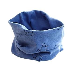 RETUROM Bebé pañuelos de cuello, cuello del algodón del bebé unisex de la bufanda del ringneck pájaro del invierno del otoño de impresión