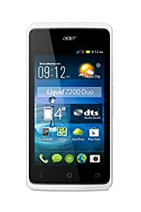 Acer Liquid Z200 Duo Smartphone USB Android 4.4 KitKat 4 Go Blanc