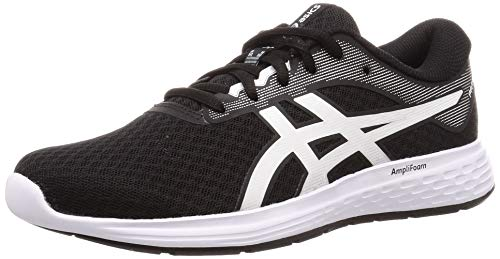 ASICS Womens Patriot 11 Running Shoe, Black/White, 40.5 EU