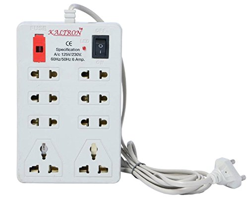 Kaltron MINI STRIP 8 Plug Point Extension Strip with Fuse...