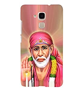 OM Shri Sai Jeevadhaaraya 3D Hard Polycarbonate Designer Back Case Cover for Huawei Honor 5C : Huawei Honor 7 Lite : Huawei GT3