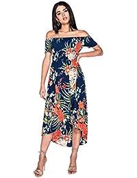 6ec70e065a Parisian Womens Navy Floral Dress Summer Long Midi Maxi Ladies Size UK 6 8  10 12