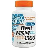 Doctor's Best, Meilleur MSM 1500, 1500 mg, 120 Plaquettes