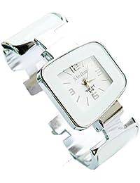 ufengke® estilo casual de línea cuadrada de acero inoxidable pulsera vestido reloj de pulsera para las mujeres señoras-blanco puro