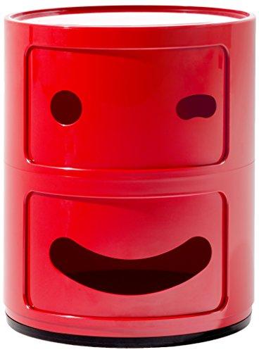 Kartell - Meuble de Rangement pour Enfants Componibili Smile (Smile 1), 42 x 32 x 32 cm