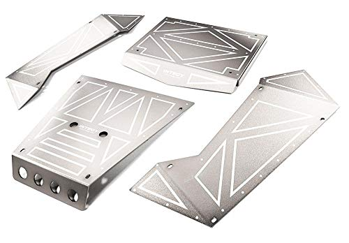 Integy RC Model Hop-ups C27006SILVER Aluminum Alloy Panel Kit for Axial 1/8 Yeti XL Rock Racer Buggy - Rc-kit Yeti