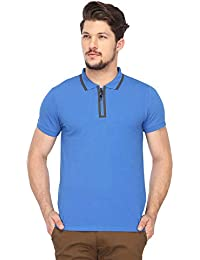 Jack & Jones Mens Solid Polo T-Shirt_Blue