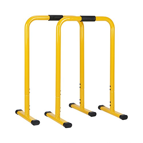 JH Fitness Parallele Calisthenics Barre Push Up regolabile in altezza - yellow