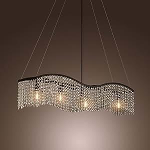 Lampadario moderno con 5 luci in cristallo nappe amazon for Lampadario amazon