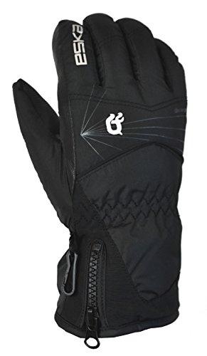 ESKA Kinder Zion Ski Winter Handschuhe, Black, L (Wasser-ski-schlitten)