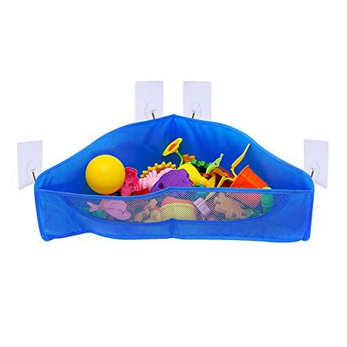 SANGDA Badespielzeug-Organizer, Badewannennetz, Netz, Spielzeughalter, Badezimmer, Dusche, Korb, Aufbewahrungstasche, Taschen, Saugnapf, für Kinder und Kleinkinder, Dunkelblau - Wanne-geschenk-korb