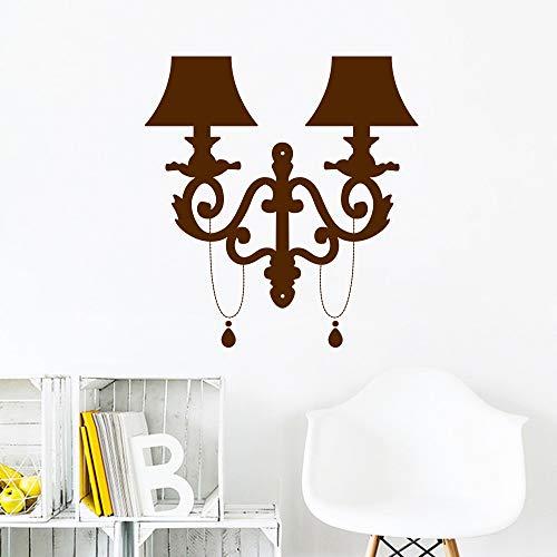 Nordic art lámpara de noche moderna etiqueta de la pared para el hogar ventana de cristal decoración dormitorio decoración de fondo Wallstickers calcomanía mural rojo XL 58 cm X 62 cm