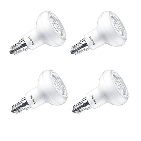 Philips LED Lustre E14 Small Edison Screw Reflector Light Bulb, 2.9 W (40 W) - Warm White, Pack of 4