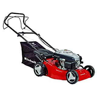 Einhell GC-PM 46 S Self Propelled Petrol Lawnmower with 46 cm Cutting Width - Red
