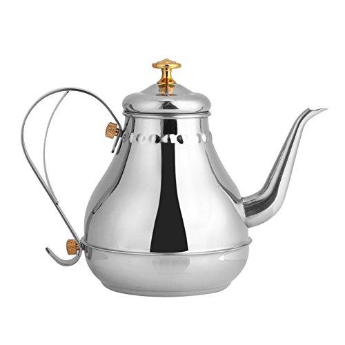 L'oca teiera in acciaio innossidabile con filtro infusore grande capacita 1.2l houseware manico per 3 persone cafe