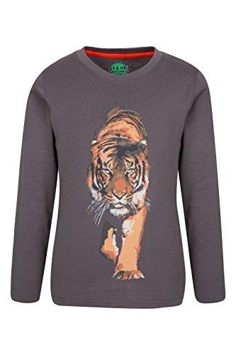 Cub Mountain T-shirt (Mountain Warehouse Steve Backshall Tiger Kinder T-Shirt Dunkelgrau 164 (13 Jahre))