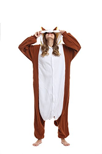 [Qute] Kigurumi Pyjamas - Unisex-Kostüm Animal & Disney Charakter Pyjamas (Chip, L (165 cm ~175 (Kostüme Pyjama Chip)