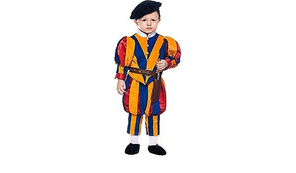 Costume di Carnevale da Guardia Svizzera Neonato Vestito per Neonato  Bambino 0-3 Anni Travestimento Veneziano Halloween Cosplay Festa Party 50699  Taglia 0  ... f7941dca83c1