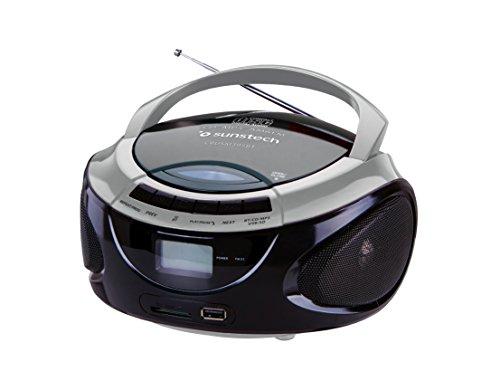 Sunstech CRUSM395BTSL - Radio CD portátil