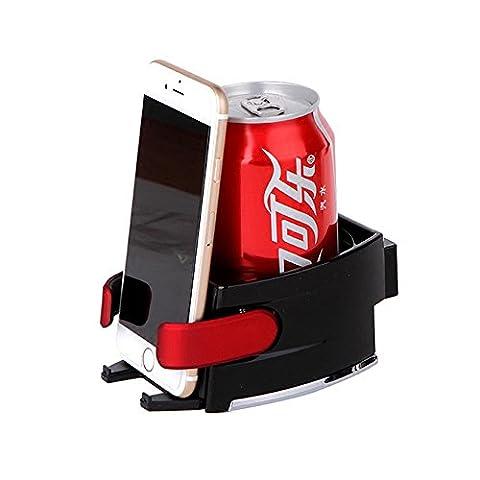 KFZ-Halterung, cmhoo Smart Drink & Phone Clip Halterung Combo Klimaanlage Vent Mount Einsatz Weich Drink Getränk Wasser Kaffee Cup Flasche mit anpassen Größe für Fahrzeug Automobil