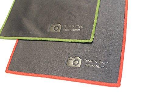 Clean & Clear Mikrofaser 12Stück Ultra Premium Qualität Objektiv Reinigungstücher-Kamera Objektiv, Gläser, Bildschirme, und Alle Objektiv, Stitched Edge(6