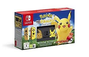 nintendo: Nintendo Switch: Consola edición Pokémon + Let's Go Pikachu (Preinstalado) + Pok...
