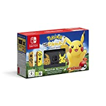 Nintendo Switch Let's Go Pikachu Limited Edition Console with Joycon, with Pokemon Let's Go Pikachu and Pokeball Plus Controller
