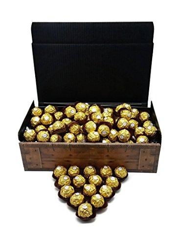 """Preisvergleich Produktbild Ferrero Rocher 1, 2Kg XXL Luxus""""Gold"""" Schatztruhe mit 96 Kugeln - knusprige Pralinen-Spezialität mit Milchschokolade und Haselnusscreme - perfekt zum verschenken oder auch als Dekoration."""