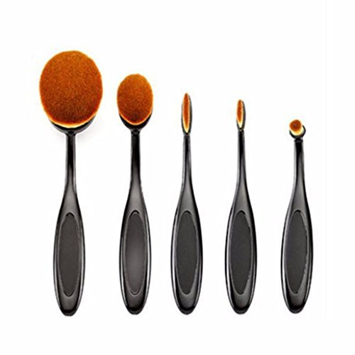 CoKate 5PC/Set Toothbrush Eyebrow Foundation Eyeliner Oval Cream Puff Makeup Brushes by CoKate