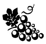 Mrlwy 13,9 Cm * 12,7 Cm Raisins Voiture-Style Moto Décor Voiture Mur Autocollant Vinyle Décalque Noir