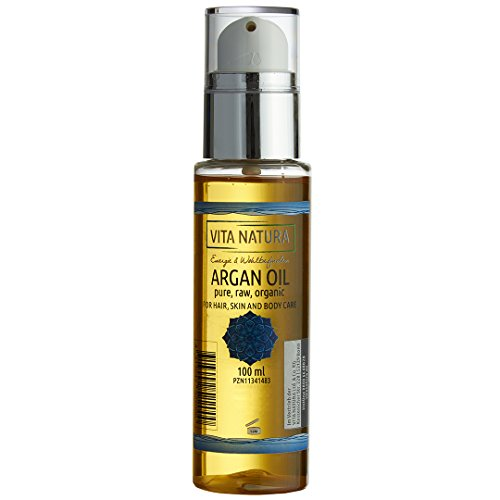 Reines Bio-Arganöl nativ, 100 % kalt gepresst aus kontrolliert biologischem Anbau für Gesicht-, Haar- und Körpferpflege im Flacon mit Dosierer 100 ml | Natürlich und feuchtigkeitsspendend