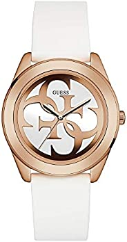 Guess Womens Quartz Watch, Analog Display and Rubber Strap W0911L5