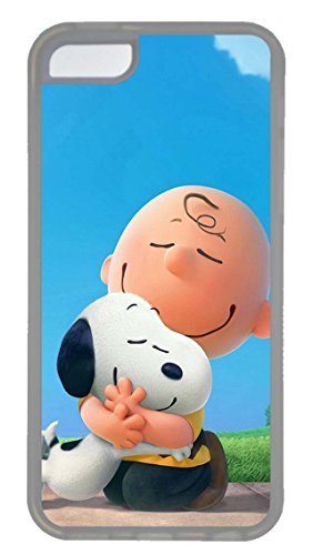 iPhone 5C Case, Custom Design Snoopy And Charlie Brown Soft Rubber TPU Clear Bumper Case Back Cover Protector Skin For Apple iPhone 5C