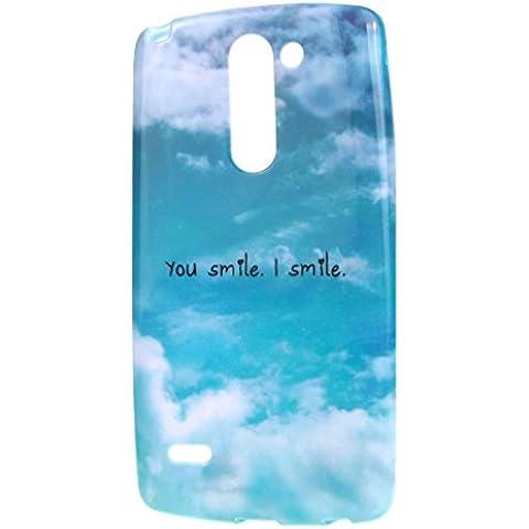 case cover para LG G3 Stylus D690,Crisant cielo azul Diseño Protección suave TPU Gel silicona Teléfono Celular Back funda Carcasa para LG G3 Stylus D690