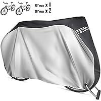 Favoto Funda para Bicicleta Exterior 210D Cubierta Protector al Aire Libre contra Sol Polvo para Montaña Carretera XL Negro+Plata