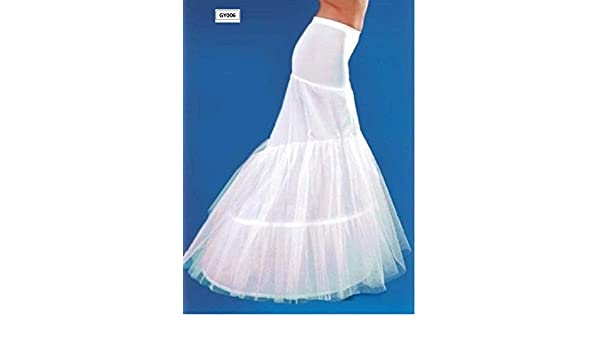 WHITE BRIDAL WEDDING DRESS PROM HOOP HOOPLESS PETTICOAT MERMAID ...
