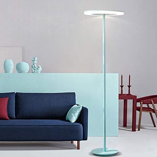 Lampadaires- 4 couleurs en option lampadaire salon simple moderne haute source de lumière led lampe de canapé créatif macarons nordique lampe de table de chevet verticale (Couleur : Sky Blue)