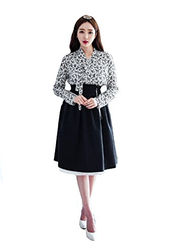 Sassy Pippi Hanbok, Modernisierte koreanische Tracht, Koreanisches traditionelles Kostüm (M, Set C) (Traditionelle Kostüme Aus Deutschland)