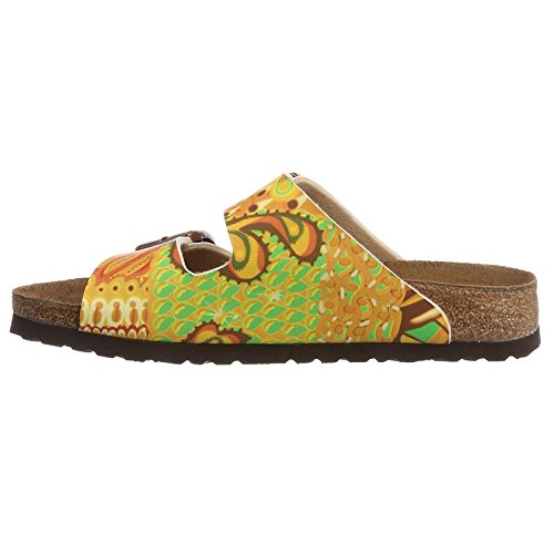 Papillio Womens by Birkenstock Arizona Synthetic Sandals African Wax Gold