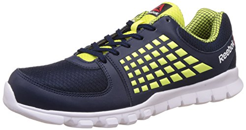 14. Reebok Women's Electrify Speed Running Shoes, 8 UK/India (42 EU)(9 US), Collegiate Navy, Green and White